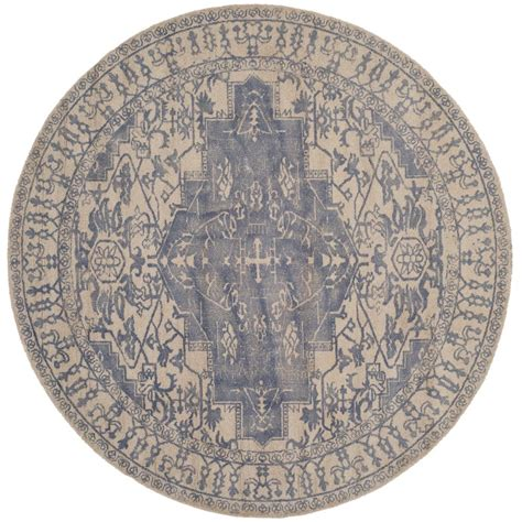6 ft rugs safavieh restoration vintage blue gray 6 ft x 6 ft