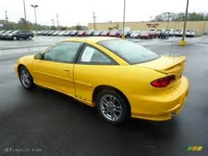 yellow 2002 chevrolet cavalier ls sport coupe exterior