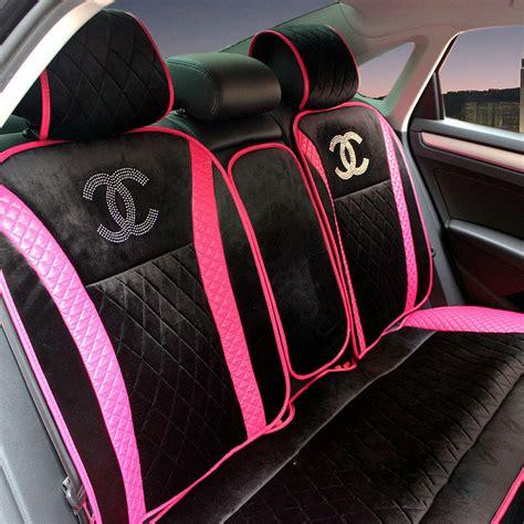 car accessories interior seat covers buy wholesale luxury chanel universal automobile velvet