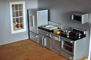 dollhouse kitchen furniture black modern set look good any great