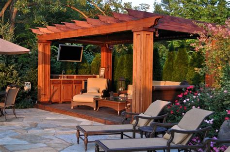 pergola with tv home tvs and