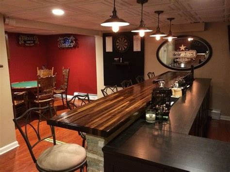 turns unfinished basement into the ultimate bar barnorama