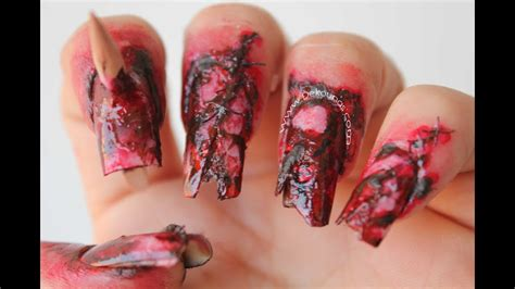 decoraci 243 n de u 241 as zombie halloween zombie nail art