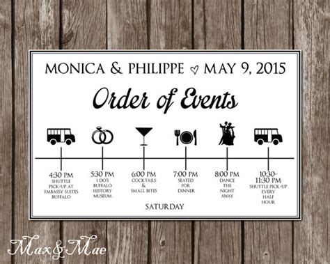 wedding order of events wedding itinerary timeline big day timeline order of events