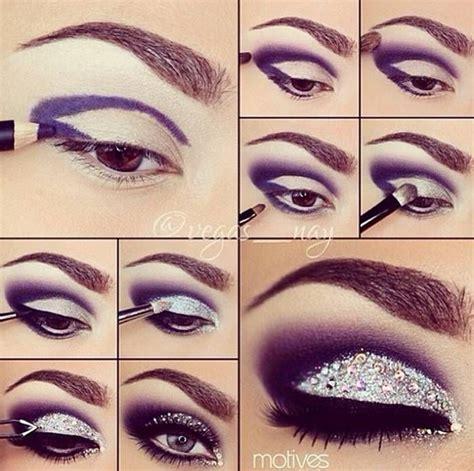 tutorial makeup glitter eye makeup tutorials purple and glitter makeup pinterest