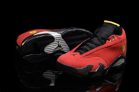 retro ferrari shoes air jordan 14 retro ferrari challenge red suede black