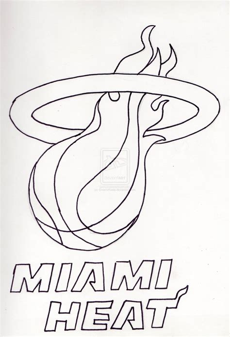 miami heat logo sketch coloring page