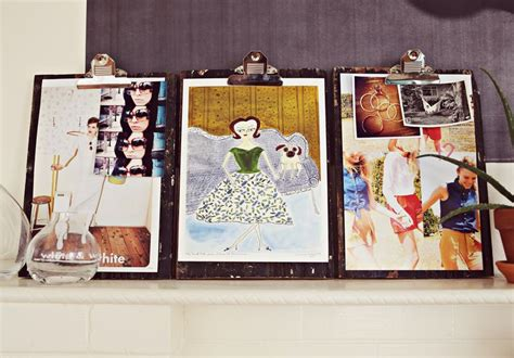 make your own artwork for home decor how to make your own rustic clipboard for displaying art