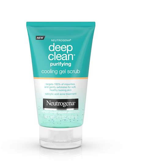 deep clean cooling gel and exfoliating face scrub neutrogena 174