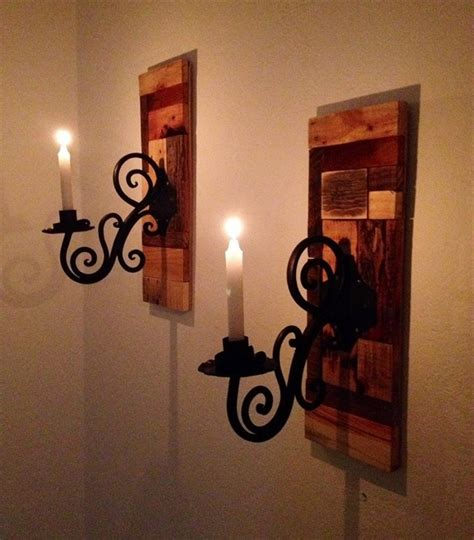 Candle Holder Wall Sconces Pallet Wood Candle Holders Pallet Wood Projects