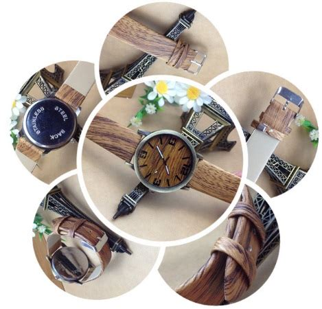 Ready 4 Pilihan Warna Jam Tangan Trendy Fashion Swarovskiguess Rolex buy jam tangan motif kayu wood theme fashion fesyen