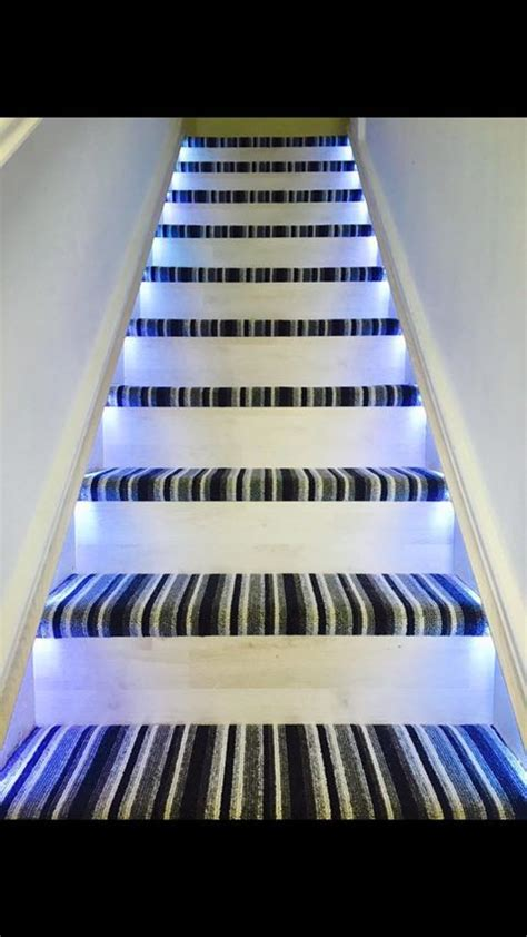 staircase carpet  feature lighting light sensor