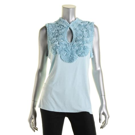 Rosette Blouse grace elements 2271 womens rosette keyhole sleeveless