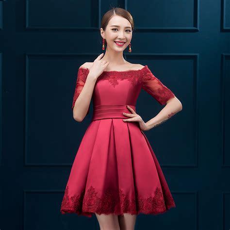 vestidos dama de honor cortos vestidos de damas de honor rojos cortos