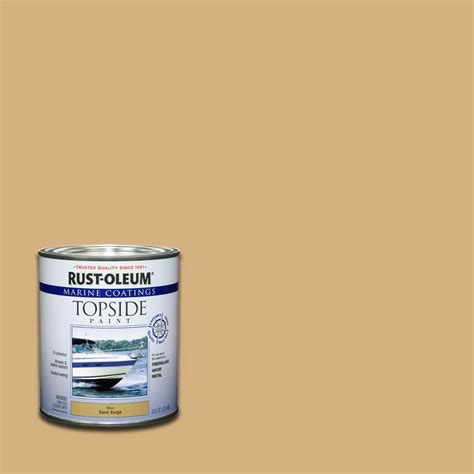 rust oleum marine 1 qt sand beige gloss topside paint 207003 the home depot