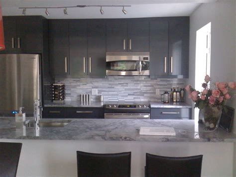 kitchen grey grey kitchen with granite coutertop