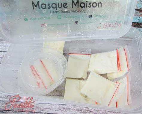 Masker Kefir Masque Maison pinastika detok wajah dengan masker white