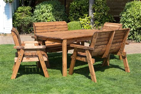 8 Seater Patio Table And Chairs 8 Seater Wooden Garden Table And Chairs Modern Patio Outdoor