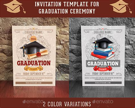 graduation ceremony invitation template 26 graduation invitation templates free premium