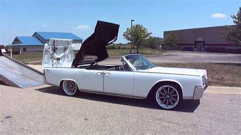 64 lincoln convertible 64 lincoln continental convertible white custom rims