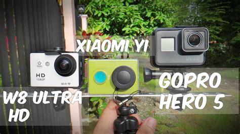 Gopro W8 gopro hero5 vs xiaomi yi vs w8 ultra hd