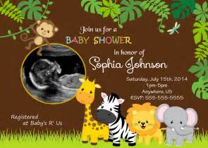 jungle themed baby shower invitations theruntime
