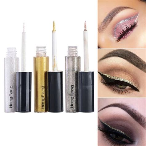 New Waterproof Eyeliner Birthday Eye Liner 1 pcs waterproof new liquid glitter eyeliner lasting eyeshadow shiny eyeliner makeup