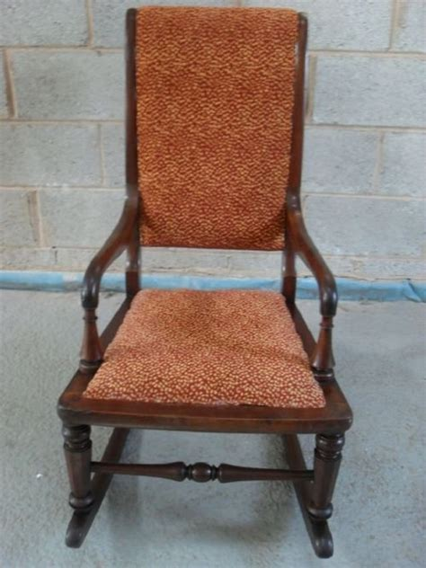 padded rocking chair uk mahogany and upholstered rocking chair 99841