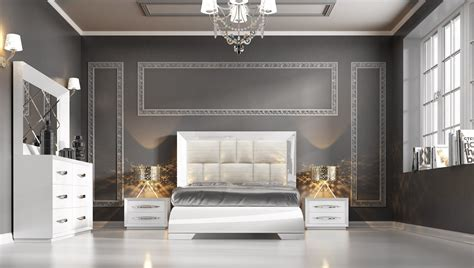 modern italian bedroom set carmen white modern italian bedroom set n star modern furniture
