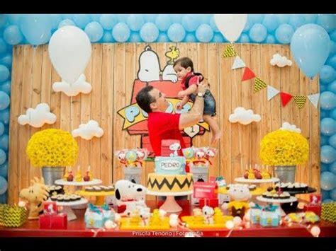 fiesta de snoopy  sus amigosmesa de dulces