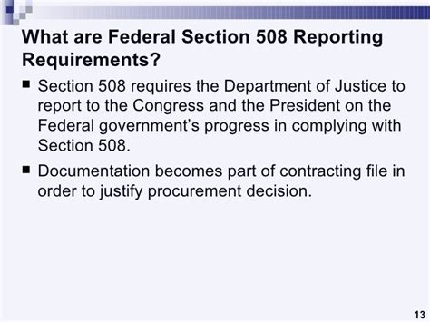 Section Requirements by Understanding Section 508