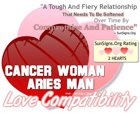 cancer woman and aries man a tough and fiery