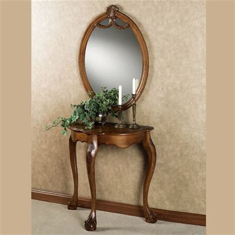 sofa table with mirror raphael wood console table and mirror