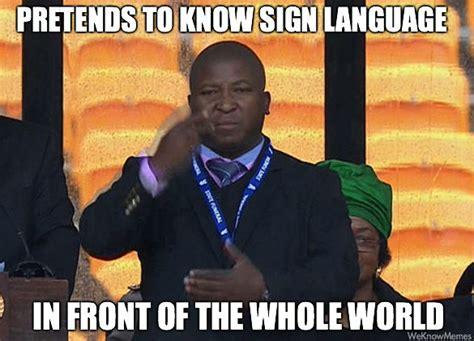 South African Memes - mandela memorial fake interpreter memes janet carr