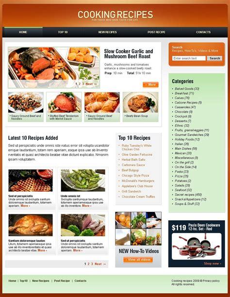 Cooking Website Template 23418 Cooking Website Template