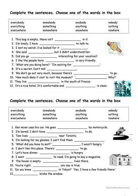 Free Pronoun Worksheets by Indefinite Pronouns Worksheet Free Esl Printable