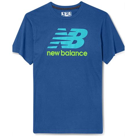 New T Shirt Lyst New Balance Graphic Logo T Shirt In Blue For