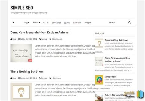 simple seo blogger template free graphics free