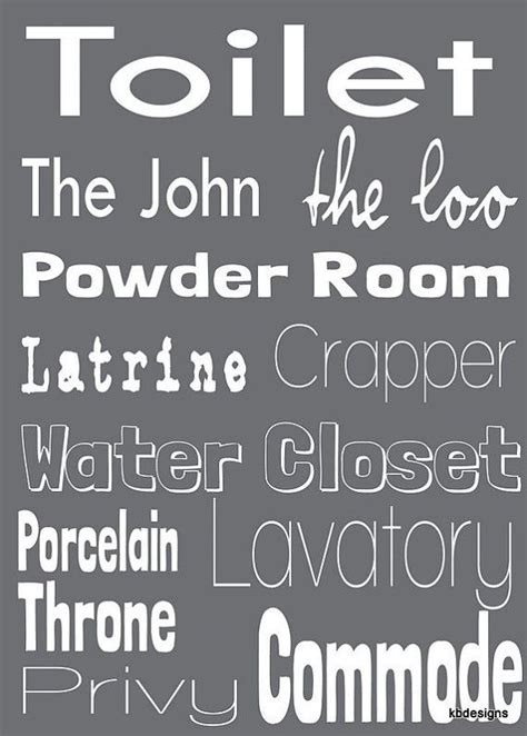 words for bathroom toilet word art for bathroom decor gift ideas