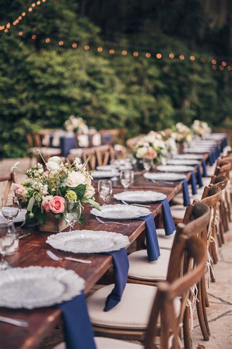 rustic romantic navy  blush wedding   detail