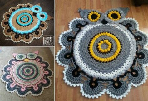 free crochet owl rug pattern owl crochet rug pattern all the cutest ideas