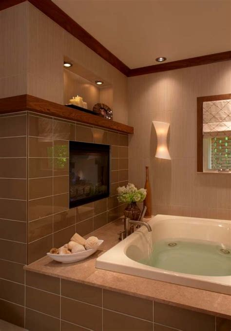 bathroom electric fireplace 51 mesmerizing master bathrooms with fireplaces