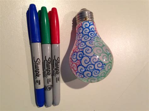Sharpie Light Bulb by Pin By Felicity On Crafts
