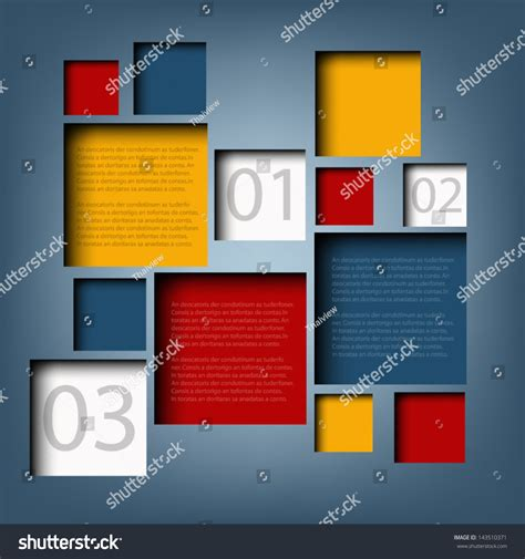 vector board layout infographic background box information board design stock