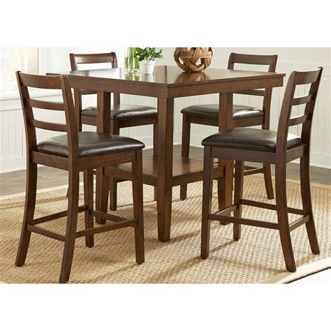 casual esszimmermöbel sets 5 gathering table set by liberty furniture wolf