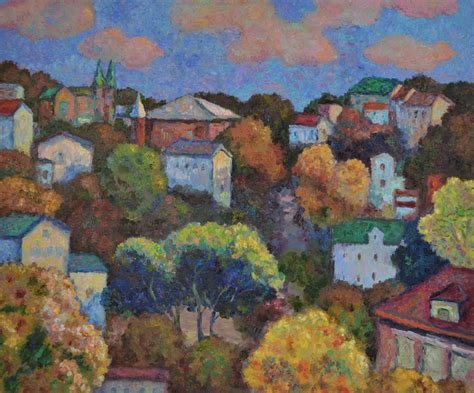 Painting Yonkers by Impressionist Paintings Autumn In Yonkers By Ping Yin