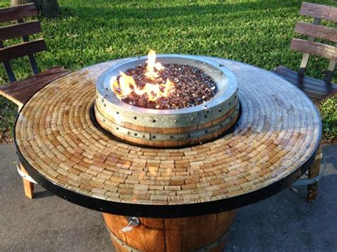 patio tables with pits wine barrel gas pit and patio table i am wine