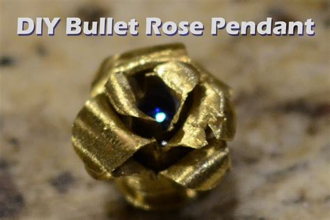 diy bullet jewelry brass rose necklace pendant metalproject youtube