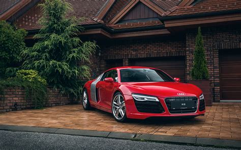 red audi r8 wallpaper audi r8 red wallpaper hd car wallpapers id 5501