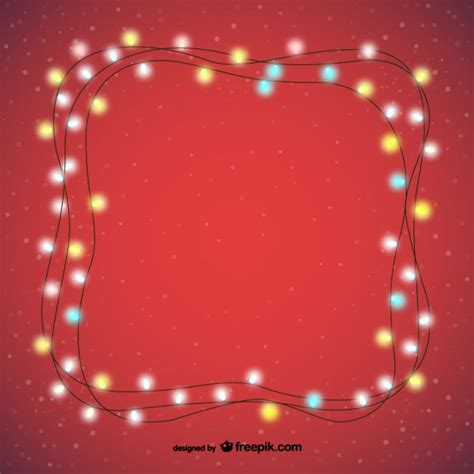 decorative christmas lights vector free download